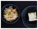 조개 죽순밥 & 두부냉채