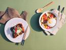 닭다리살구이 & 반숙후라이 버섯덮밥