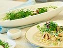 들깨 파스타 & 석류,배, 샐러드