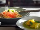 토마토 올리브 파스타 & 파프리카 샐러드